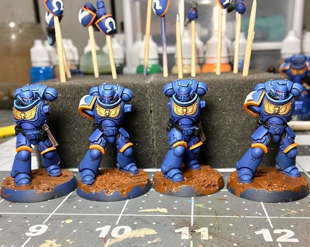 WIP on The Hellblasters. Hoping to be done before the week is over. Highlights/Base/decals to go. 👨🏽‍🎨 🎨 🕴🏽