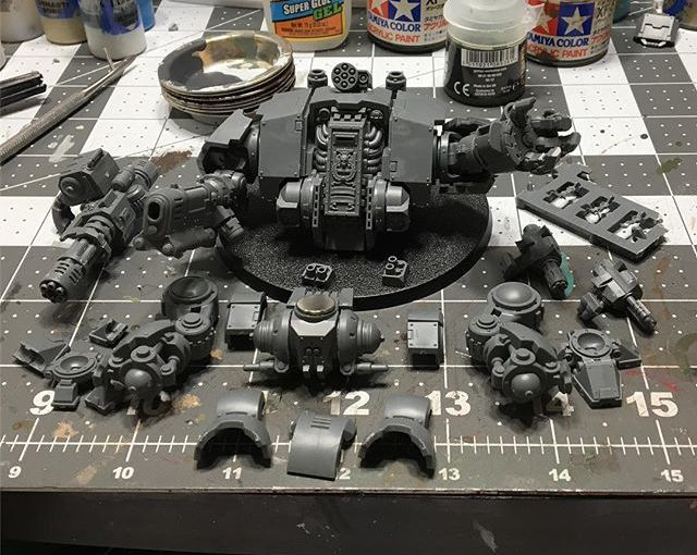 Dreadtober continues! Waiting for the super glue to dry up so that magnetization can continue!